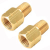Empi 18-1102 Brass Brake Line Adapters, 1/8NPT To 10mm, Pair