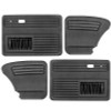 Empi 4854-0 Black Vinyl VW Beetle Door Panels W/ Pockets 1965-1977, Set Of 4