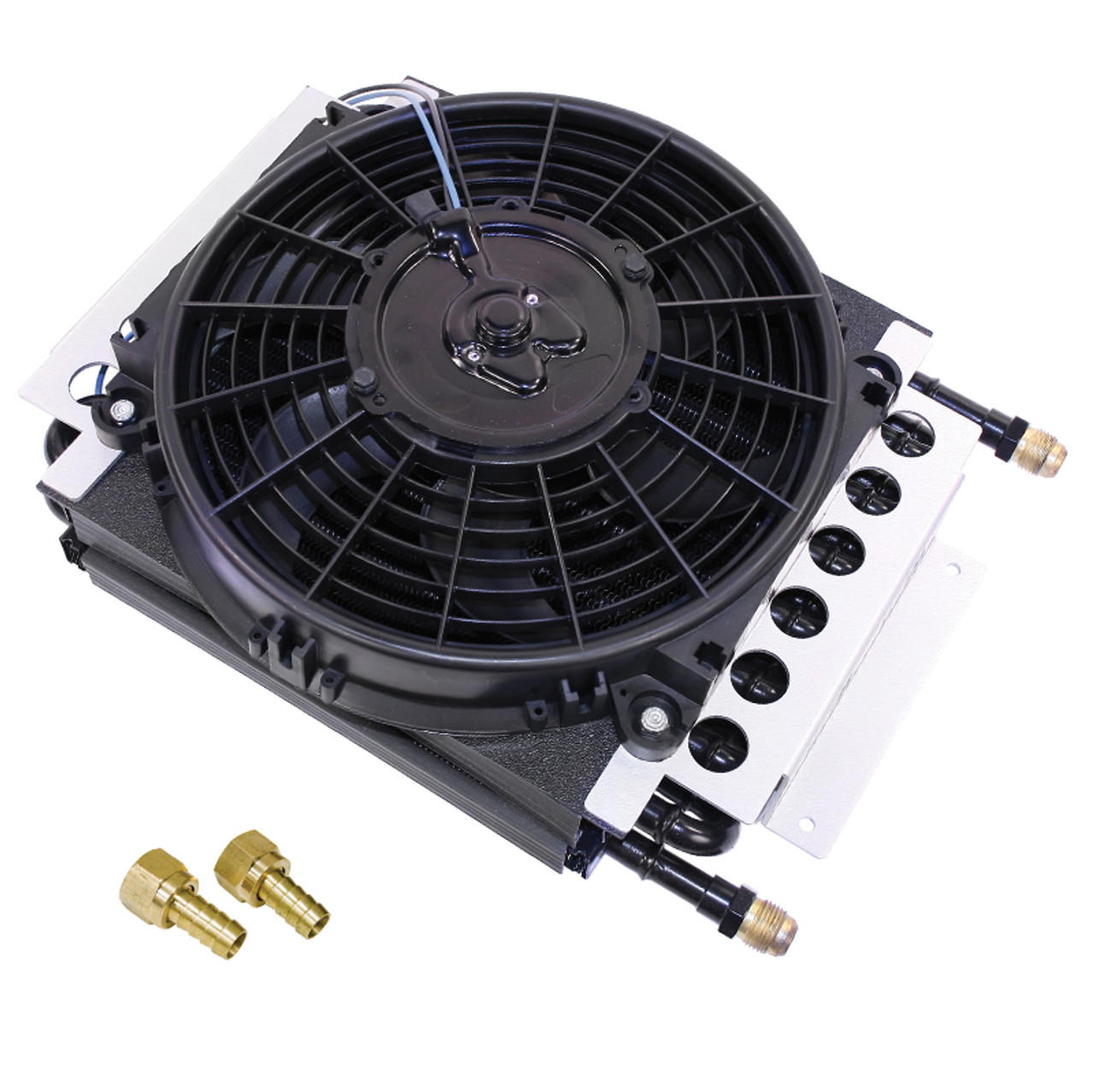 Empi 9290 Hi-Performance 16 Pass Copper Tube Oil Cooler Kit With Electric  Fan