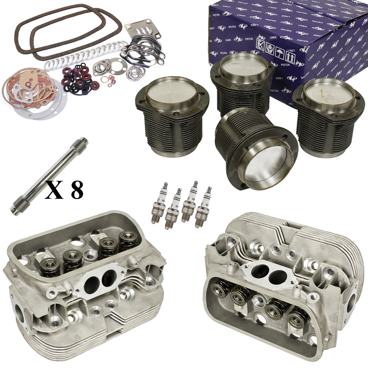 Vw Engine Rebuild Kit Top End Heads Pistons Moore Parts