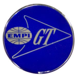 Empi 17-2991 Wheel Cap/Horn Button Sticker, Empi/GT Logo Blue/Silver 36mm