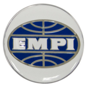 Empi 9665 Wheel Cap/Horn Button Sticker, Empi Logo White/Blue 37mm