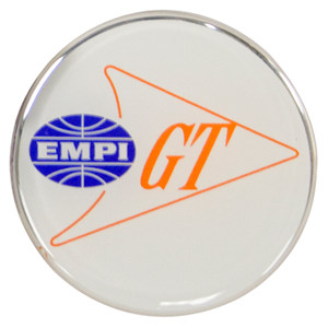 Empi 17-2992 Wheel Cap/Horn Button Sticker, Empi/GT Logo White/Blue/Orange 43mm