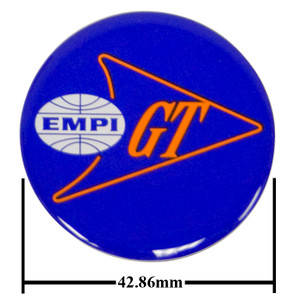 Empi 17-2993 Wheel Cap/Horn Button Sticker, Empi/GT Logo Blue/White/Orange 43mm