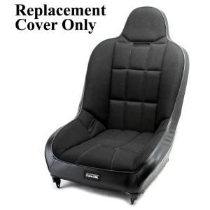 Empi 62-2794-7 Race Trim X-Wide Hi-Back Seat Cover Only- Black Cloth/Black Vinyl