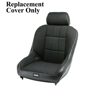 Empi 62-2767-7 Race Trim Lo-Back Seat Cover Only - Black Cloth/Black Vinyl