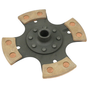 "Empi 4091 Heavy Duty 4 Puck 200mm/8"" Rigid Clutch Disc Vw Spline Hole"