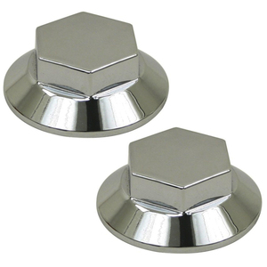 Empi 10-1029 Aluminum Wheel Cap For Dune Buggy Spindle Mount Wheel, Pair
