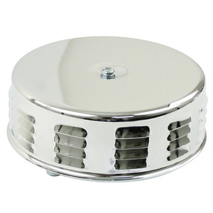 Empi 8674 Chrome Round Louvered Air Cleaner For Classic Air-cooled Vw Bug