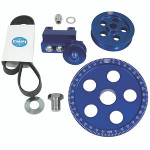 Empi 18-1070 Serpentine Belt Blue Pulley System For Air-cooled Vw Engines