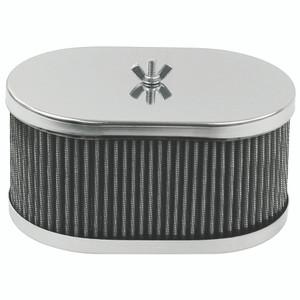 """Empi 8714 Chrome Oval Air Cleaner IDF Weber/Empi HPMX 4-1/2"""" X 7"""" X 3-1/2"""""""