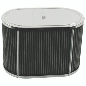 """Empi 43-6006 Chrome Oval Air Cleaner IDF Weber/Empi HPMX 5-1/2"""" X 9"""" X 6"""""""