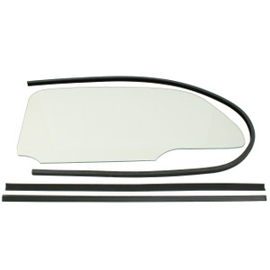 Empi 9760 Vw Bug 1 Piece Clear Window Kit With Glue In Scrapers 1958-64, Pair
