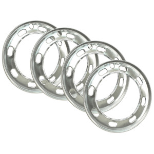 "Empi 9556 Aluminum Beauty Rings For Early Vw 15"" Wheels 1974-1979, Set Of 4"