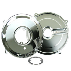 Empi 9056 Chrome 3 Piece Alternator Backing Plate Set, Air-cooled Vw Engines