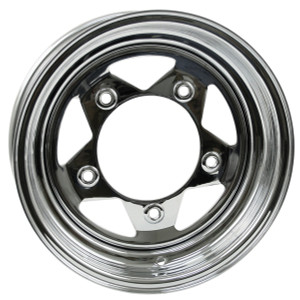 "Empi 10-1024 Vw Baja Bug 15X10  5 Lug Chrome Steel Spoke Wheel 3-1/2"" Back Space"