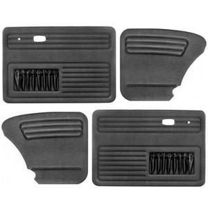 VW Bug Door Panels W/ Pockets 1965-1977, Set Of 4 Black Vinyl