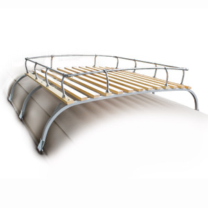 Classic Volkswagen Type 2 Bus Steel Roof Rack With Wood Slats