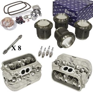 Vw Bug Engine Kit Stock 1600cc With New Stock Cylinder Heads Top End Only