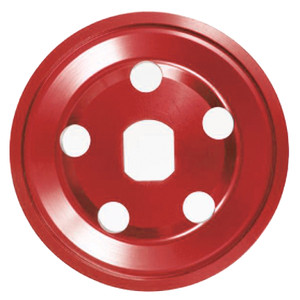 Empi 18-1084 Billet Generator/Alternator Vw Pulley Half, Red