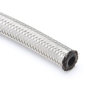 """#4 Double Braided Stainless Steel Hose 1/4"""" Inner Diameter"""