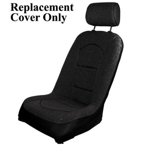 Empi 62-2816-7 Race Trim Slim Line Seat Cover Only, Black Cloth/Black Vinyl