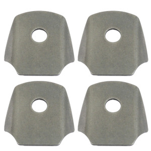 """Empi 17-2793 Universal Chromoly Mounting Tab With 1/2"""" Hole, 4 Pack"""