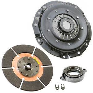 """Kennedy 8"""" Clutch Kit 3000Lbs Stage-4 Black Magic Disc T.O. Bearing Vw To 1970"""