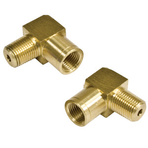 Empi 18-1107 90 Degree Brass Brake Line Adapters, 1/8NPT To 10mm, Pair