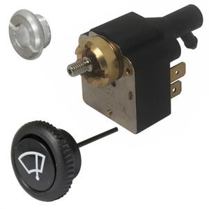 Vw Bug Wiper Switch Kit, Includes Switch, 14mm Nut & Black Knob 1968-71