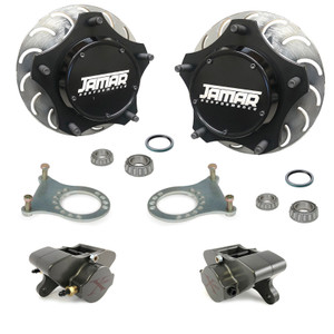 Jamar Performance USA Pro-X Front Disc Brake Kit, Combo Spindles 2 Piston Calipers