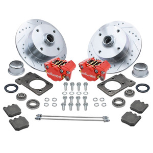 Empi 22-6150-R Vw Super Beetle Front Wilwood Disc Brake Kit, 4 Lug Vw Pattern