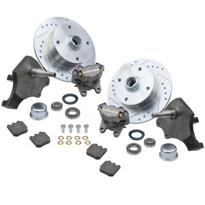 Empi 22-6151 Vw Bug Front Wilwood Disc Brake Kit Drop Spindle 4 Lug Vw 1966-77