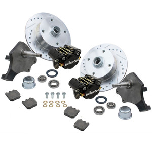 Empi 22-6151-B Vw Bug Front Wilwood Disc Brake Kit Drop Spindle 4 Lug Vw 1966-77