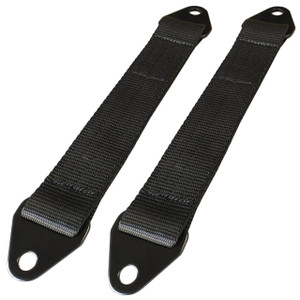 "Moore Parts 14"" Off-Road Suspension Limit Straps With Black Tabs, Pair"