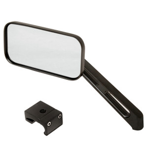 Manx Buggy Black Sideview Rectangular Mirror W/Aluminum Mount, Each