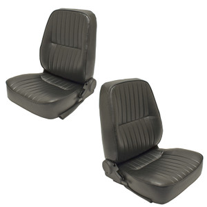 Empi 62-2950 and 62-2951 Black Vinyl Reclining Low Back Bucket Seats, Left Side Right side