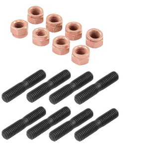 Vw Bug Exhaust Stud & Nut Kit. 8 Copper Nuts & 8 Exhaust Studs. Sold As Kit (AC251998)