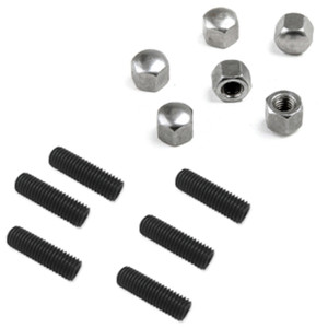 Vw Bug Oil Drain Plate Stud And Nut Kit. Vw Air-cooled Engines 1500cc & up, 12 Piece Kit (AC115298-SN)