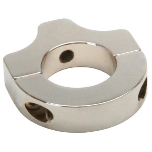 "Polished Aluminum Clamp Bracket With 3/8""-16 Threads For 1-1/2"" Tube"