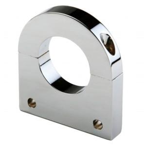 "Polished Aluminum Clamp Bracket 2 Side Drilled Design For 1-1/2"" Tube"