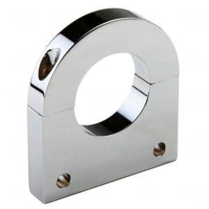 "Polished Aluminum Clamp Bracket 2 Side Drilled Design For 1-3/4"" Tube"