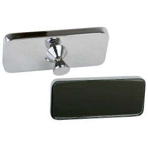Chrome Rear View Glue On Mirror For Flat Windshields