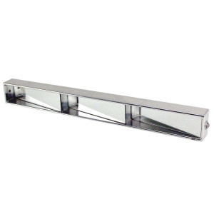Aluminum 3 Panel Rear View Mirror