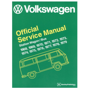 Bentley Shop Manual For Type 2 Vw Bus 1968-1979 Air-cooled Volkswagens