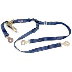 "Heavy Duty 3 Point Tire Style Ratchet Strap/Tie Down 2"" X 9' 10,000 Lbs Rating"