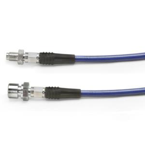 "Blue Steel Braided Brake Hose For Vw Front 1967-1977 / 15"" Long"