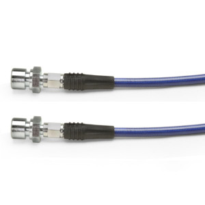 """Blue Steel Braided Brake Hose, Vw Swing Axle Rear 1956-1968 11.5"""" Long"""