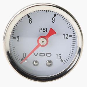 """VDO Mechanical Pressure Gauge 0-15 Psi 1-1/2"""""""