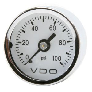 """VDO Mechanical Pressure Gauge 0-100 Psi 1-1/2"""""""
